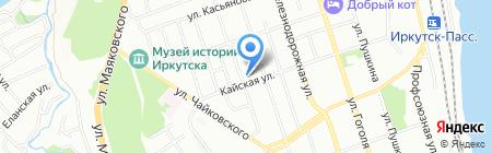 Ветеринарная поликлиника на карте Иркутска