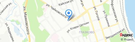 Александра на карте Иркутска
