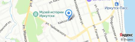 Валентина на карте Иркутска