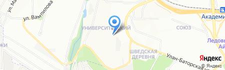Асоль на карте Иркутска