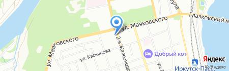 ВСЖД на карте Иркутска