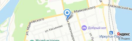 БайкалСибАвто на карте Иркутска