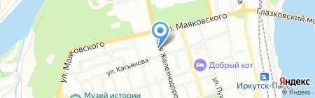 Мир квартир на карте Иркутска