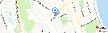 Полидея на карте Иркутска