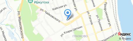 Средняя общеобразовательная школа №63 на карте Иркутска