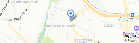 Киоск по продаже хлебобулочных изделий на карте Иркутска