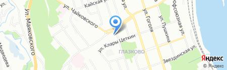Деал на карте Иркутска