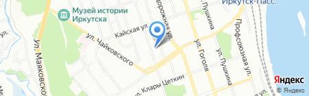 Иркутские кулуары на карте Иркутска