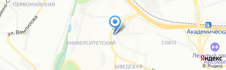 Каракатица на карте Иркутска