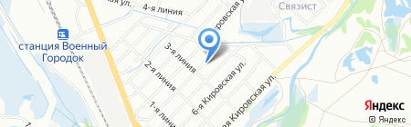 Зефир на карте Иркутска