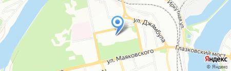 МАС на карте Иркутска