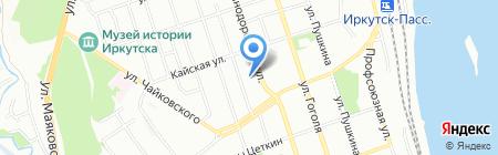 Ковача на карте Иркутска