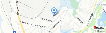 Арис-Ангарск на карте Иркутска
