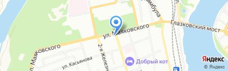Сибирячка на карте Иркутска