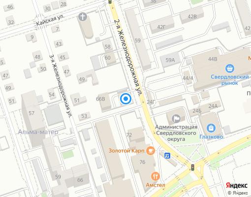 Жилищно-строительный кооператив «Ангара плюс» на карте Иркутска