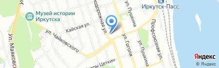 Комиссия по делам несовершеннолетних и защите их прав Свердловского округа г. Иркутска на карте Иркутска