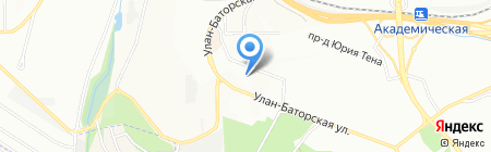 ИГУ на карте Иркутска