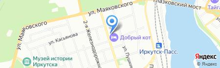 Амур на карте Иркутска