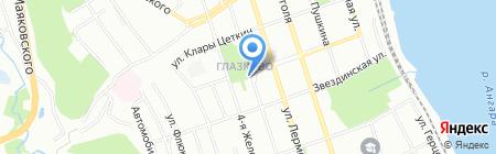 Алладин на карте Иркутска