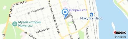 Контур на карте Иркутска