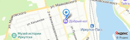Стрит на карте Иркутска