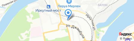 Грэй на карте Иркутска