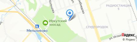 Детский сад №152 на карте Иркутска