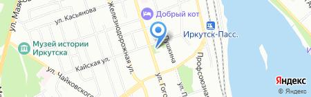 Детская музыкальная школа №3 на карте Иркутска