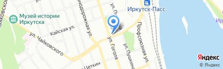 Байфлор на карте Иркутска