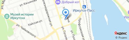 Локус на карте Иркутска