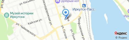 Оазис на карте Иркутска