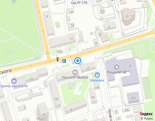 Управляющая компания «Академик» на карте Иркутска