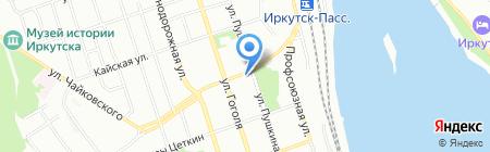 Золотые Каникулы на карте Иркутска