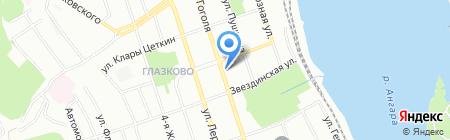 Дуэт на карте Иркутска