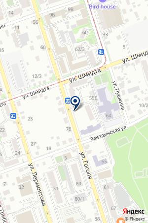 Продуктовый магазин на ул. Гоголя на карте Иркутска