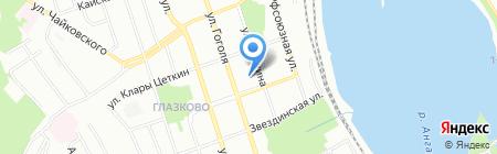 Мондора на карте Иркутска