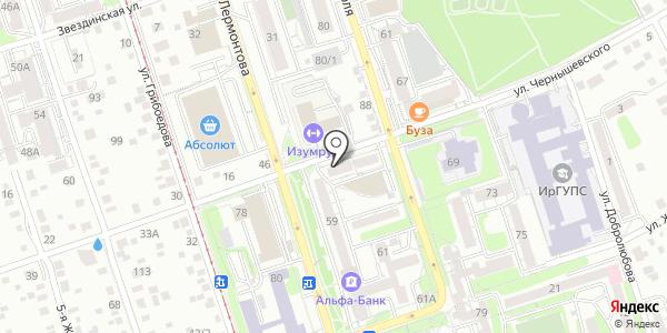 Солнечныйк круг. Схема проезда в Иркутске