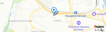 Союз на карте Иркутска