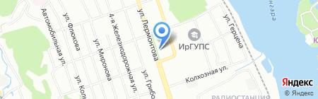 Шарм на карте Иркутска