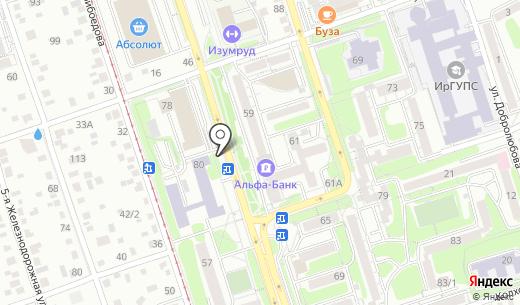 Шарм. Схема проезда в Иркутске