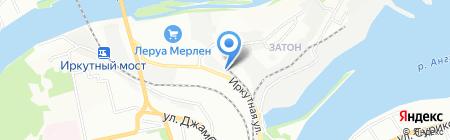 Пчела на карте Иркутска