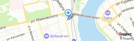 Столовая №23 на карте Иркутска
