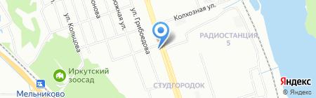 Образ на карте Иркутска