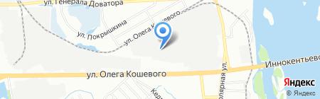 Мастер Лю на карте Иркутска