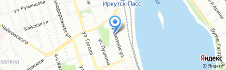 Детский сад №110 на карте Иркутска