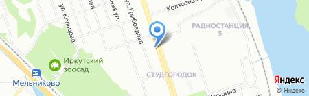Универ на карте Иркутска