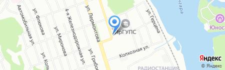 Трион на карте Иркутска