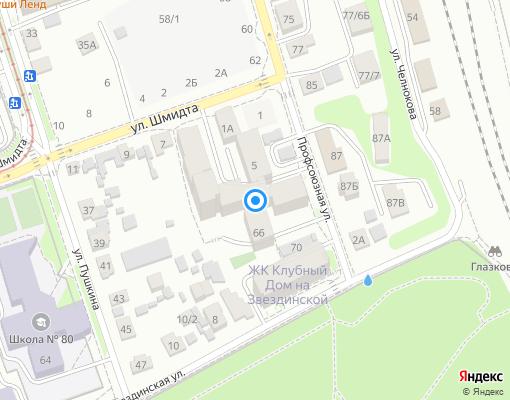 Товарищество собственников жилья «Сосна» на карте Иркутска