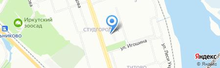 Банк ВТБ 24 на карте Иркутска