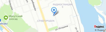 АБ на карте Иркутска